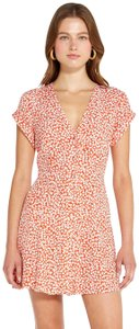 Capulet short dress Tangerine Floral Mini Sundress Relax on Tradesy
