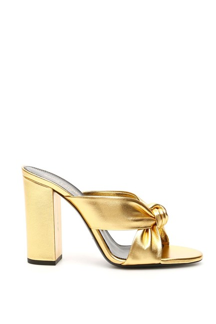 Item - Gold Monogram Loulou Cr New 100 Mules 36 6 Sandals Size EU 39 (Approx. US 9) Regular (M, B)