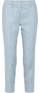 Derek Lam Cropped Center Stitch Straight Capri/Cropped Pants Light Blue