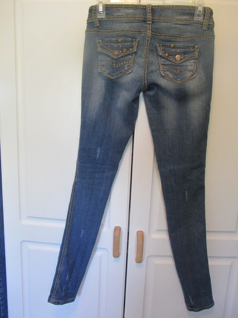 Almost Famous Clothing Jeggings-Distressed Image 3