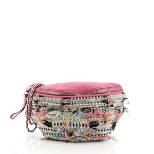 Chanel Tweed Waist Multicolor, Pink Travel Bag