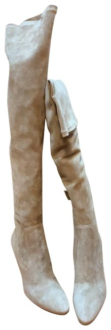 Item - Taupe Tall Stretch Kid-suede Over The Knee Boots/Booties Size EU 40 (Approx. US 10) Regular (M, B)