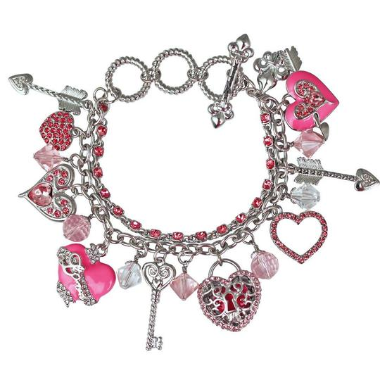 Preload https://img-static.tradesy.com/item/26587152/ritzy-couture-heart-charm-arrow-charm-pink-bracelet-0-0-540-540.jpg