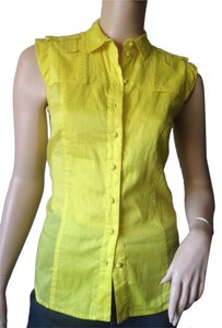Antonio Berardi Button Down Shirt Yellow