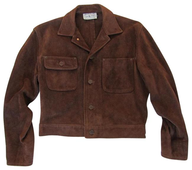 Item - Polo Leather/Cowhide Jean Jacket Size 6 (S)