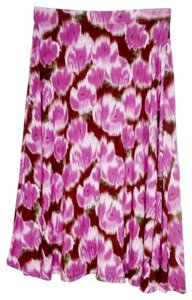 Matilda Jane Travel Comfortable Stretchy Floral Skirt Purple