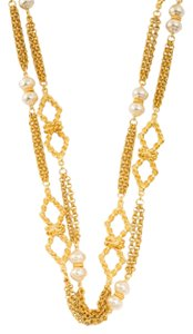 Ben-Amun 24k Gold Plated Pearl Station Long Necklace