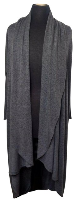 Item - Gray Kimono Cover Up Cardigan Yoga Stretch Workout Long Draped Activewear Outerwear Size 2 (XS)