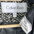 Calvin Klein Black Gray Herringbone Wool Blend Trench Mock Neck Tweed Coat Size 4 (S) Calvin Klein Black Gray Herringbone Wool Blend Trench Mock Neck Tweed Coat Size 4 (S) Image 5