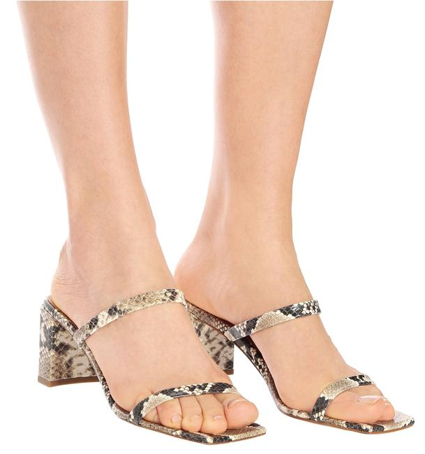 By Far Snake Print Tanya Leather 6.5 Sandals Size EU 37 (Approx. US 7) Regular (M, B) By Far Snake Print Tanya Leather 6.5 Sandals Size EU 37 (Approx. US 7) Regular (M, B) Image 1