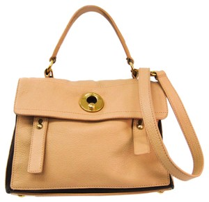 Yves Saint Laurent Satchel in Beige / Brown