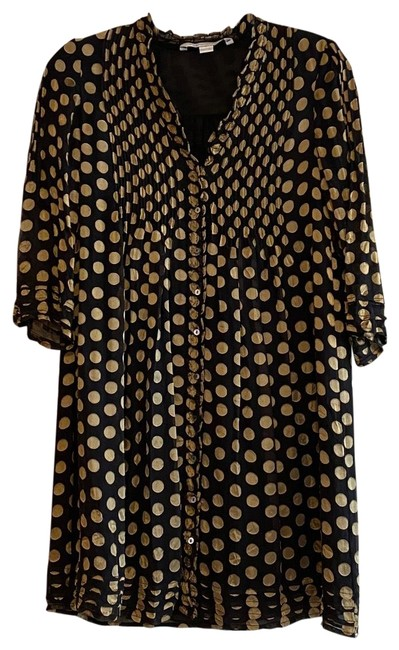 Item - Black and Gold Short Cocktail Dress Size 0 (XS)