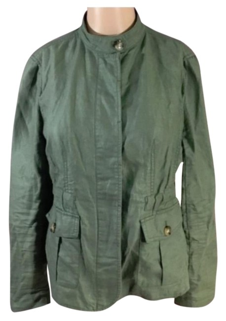 Item - Green Utility Safari Jacket Size Petite 4 (S)