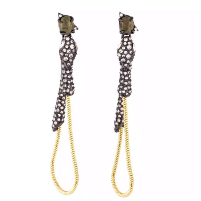 Item - Gold/Gray • Snake Dangling Chain Earrings