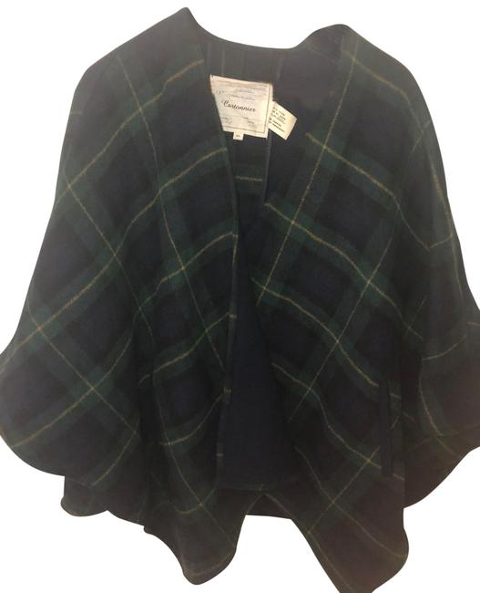 Item - Hunter Green Navy and Gold Poncho/Cape Size 10 (M)