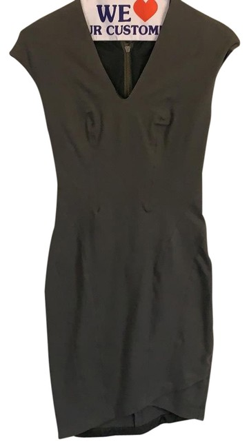 Item - Mudstone Gray Co6hw602 Mid-length Night Out Dress Size 4 (S)