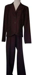 My Closet- Embellished by Leecia Dark Plum & Burgundy Strip Suit