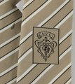 Gucci Beige Men's Cotton/Silk with White and Brown Stripes 336398 9677 Tie/Bowtie Gucci Beige Men's Cotton/Silk with White and Brown Stripes 336398 9677 Tie/Bowtie Image 5