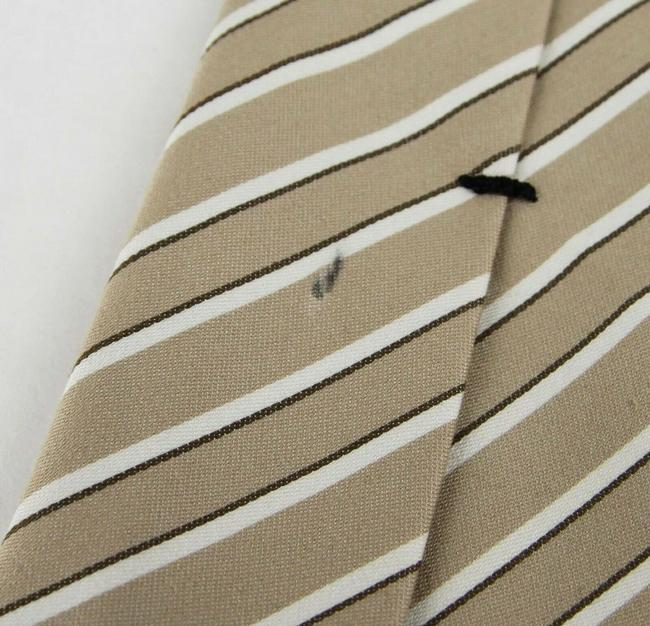 Gucci Beige Men's Cotton/Silk with White and Brown Stripes 336398 9677 Tie/Bowtie Gucci Beige Men's Cotton/Silk with White and Brown Stripes 336398 9677 Tie/Bowtie Image 7