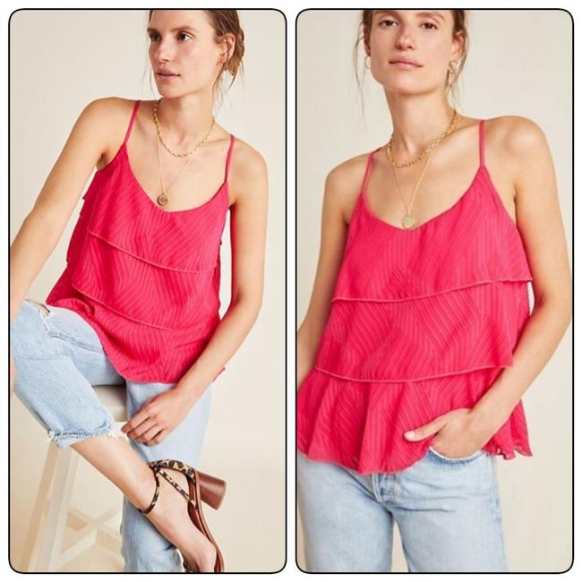 Item - Pink Ameline Tirered Tank Top/Cami Size 6 (S)