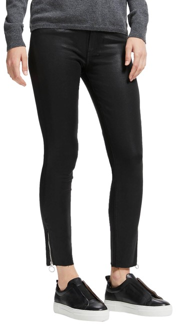 Item - Black Coated Hoxton Mid Rise Ankle Zip Skinny Jeans Size 4 (S, 27)