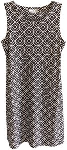 Jude Connally short dress Brown, White Stretchy Sleeveless Usa Geometric on Tradesy