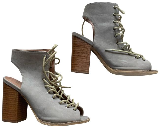 Item - Tan and Cream Heeled Laceup Boots/Booties Size US 7 Regular (M, B)