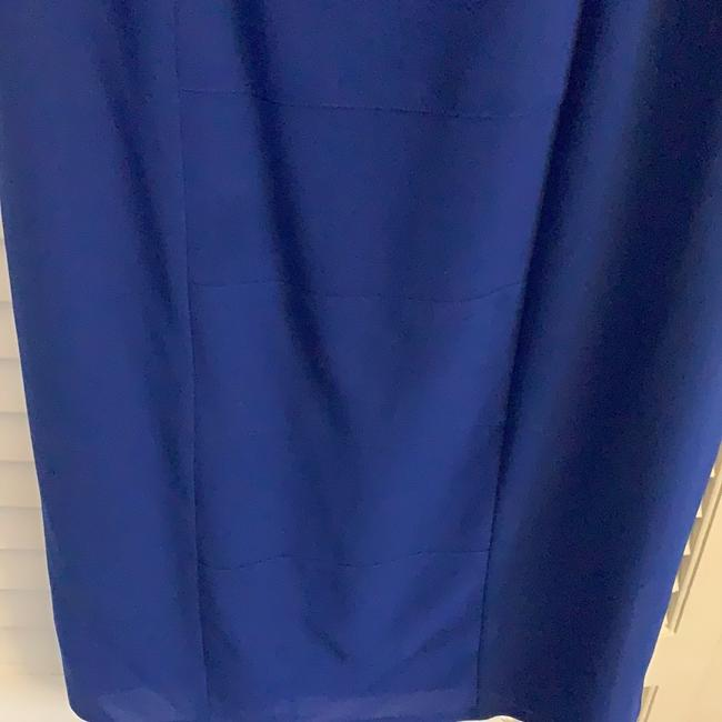 Vince Camuto Royal Blue Sheer Overlay with Tie Waist Mid-length Work/Office Dress Size 4 (S) Vince Camuto Royal Blue Sheer Overlay with Tie Waist Mid-length Work/Office Dress Size 4 (S) Image 4