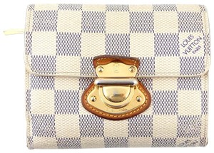 Louis Vuitton Koala Damier Azur Canvas Leather Trifold Wallet
