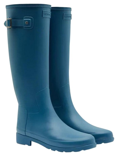 Item - Rock Pool Blue Refined Slim Fit Tall Rubber Boots/Booties Size US 9 Regular (M, B)