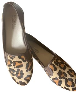 Michael Kors leopard and brown leather Flats