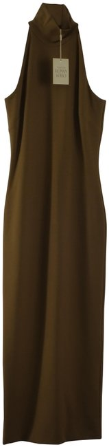 Item - Olive Theodora High Neck Midi Small Short Mid-length Casual Maxi Dress Size 4 (S)