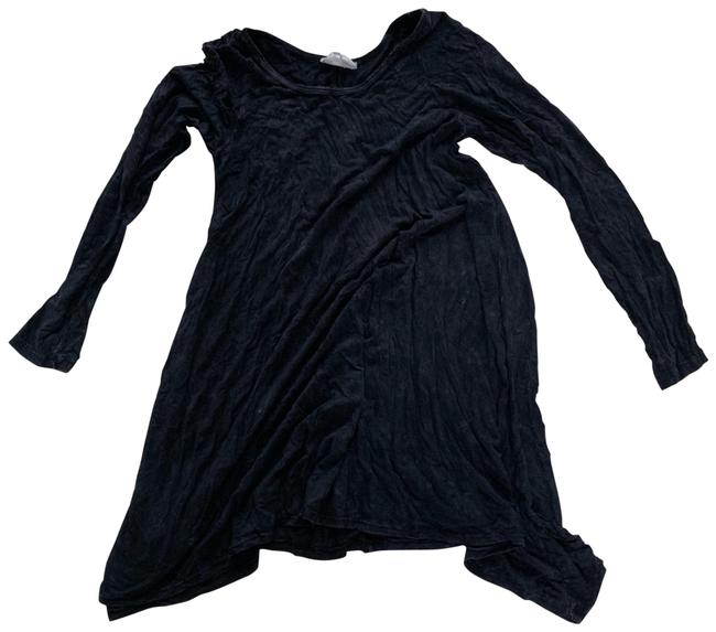Item - Black and Gray Tie Dye Blouse Medium Mid-length Short Casual Dress Size 8 (M)