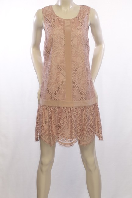 Twelfth St. by Cynthia Vincent Lace Drop Waist Scalloped Shift Dress Image 5