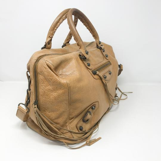 Balenciaga Satchel in Tan Image 2