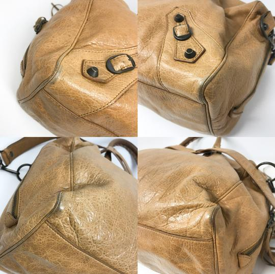 Balenciaga Satchel in Tan Image 6