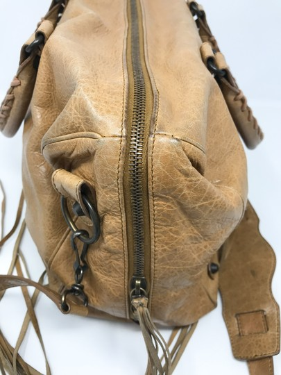 Balenciaga Satchel in Tan Image 8