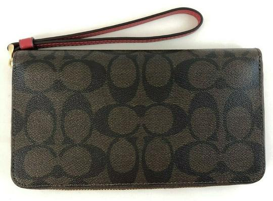 Coach NWT Coach F73413 Crossgrain Leather LARGE Phone Wristlet Wallet chalk Image 1