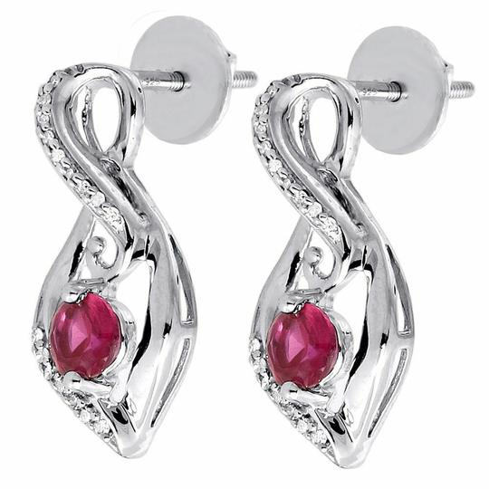 Preload https://img-static.tradesy.com/item/26593400/jewelry-for-less-silver-diamond-infinity-925-sterling-created-ruby-096ct-earrings-0-0-540-540.jpg