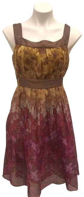 Preload https://img-static.tradesy.com/item/26593423/anna-sui-multicolored-for-anthropologie-silk-watercolor-tie-waist-mid-length-cocktail-dress-size-4-s-0-1-650-650.jpg