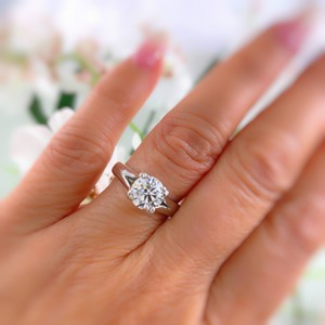 Hearts on Fire G Round Brilliant Diamond 1.31 Cts Vs2 Platinum Engagement Ring
