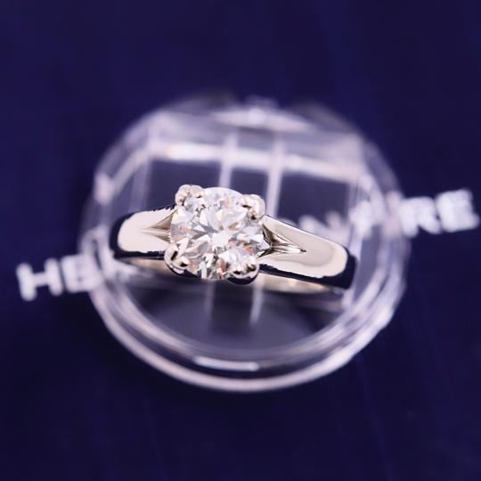 Hearts on Fire G Round Brilliant Diamond 1.31 Cts Vs2 Platinum Engagement Ring Image 6