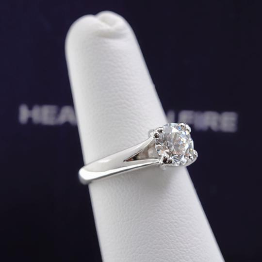 Hearts on Fire G Round Brilliant Diamond 1.31 Cts Vs2 Platinum Engagement Ring Image 8
