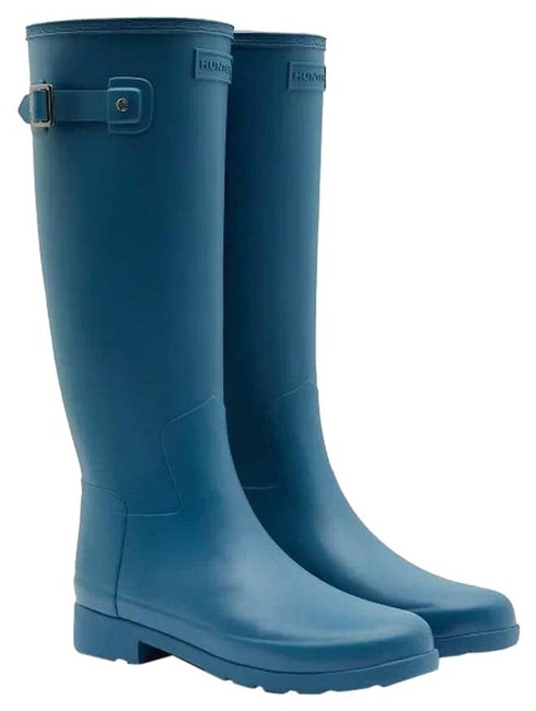 Item - Rock Pool Blue Refined Slim Fit Tall Rubber Boots/Booties Size US 7 Regular (M, B)