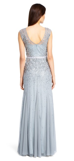 Adrianna Papell Sequin Beaded Mesh Dress Image 1