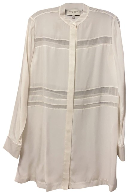 Item - Ivory Silk with Sheer Detail - Never Worn Blouse Size 4 (S)