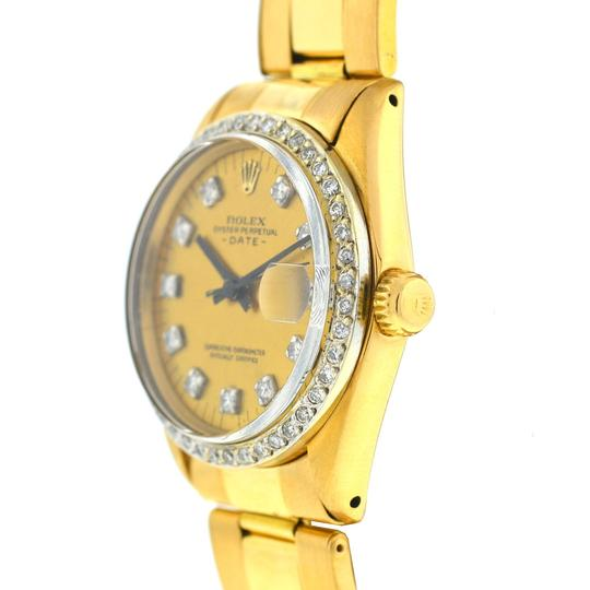 rolex Rolex 6827 Midsize 31mm Date 18k Gold Diamond Dial & Bezel Watch Image 1