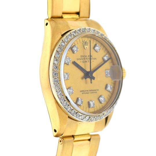 rolex Rolex 6827 Midsize 31mm Date 18k Gold Diamond Dial & Bezel Watch Image 7