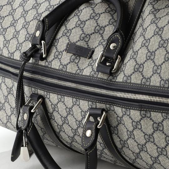 Gucci Duffle Canvas blue Travel Bag Image 5