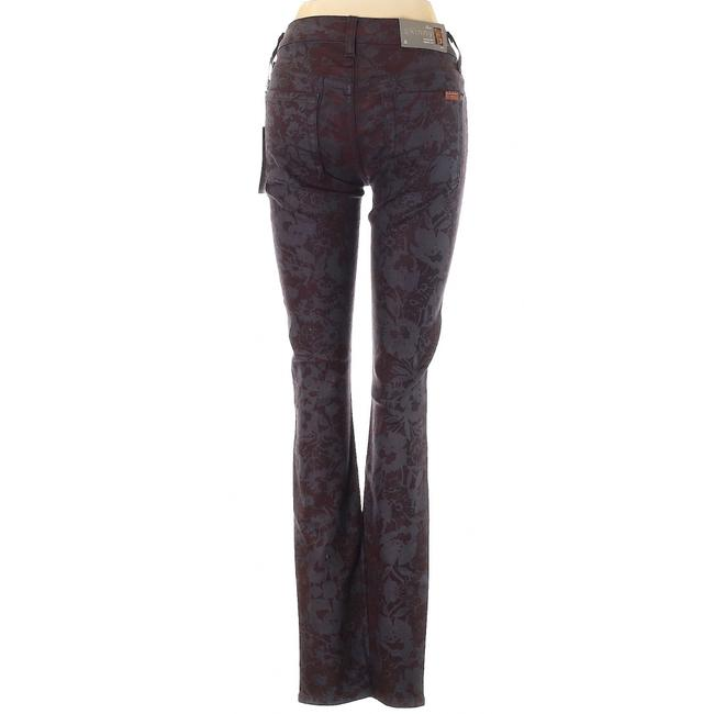 7 For All Mankind Stretchy Floral Skinny Jeans Image 1